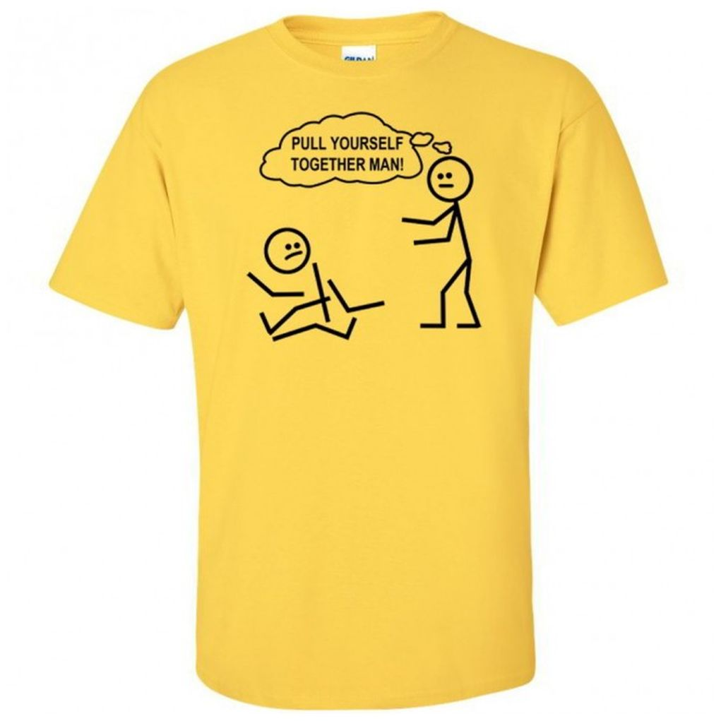 Pull yourself together man funny stickman lol youth kids How to sell shirts