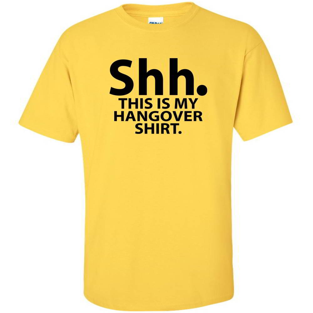 Shh This Is My Hangover Shirt Funny Party Mens Drinking