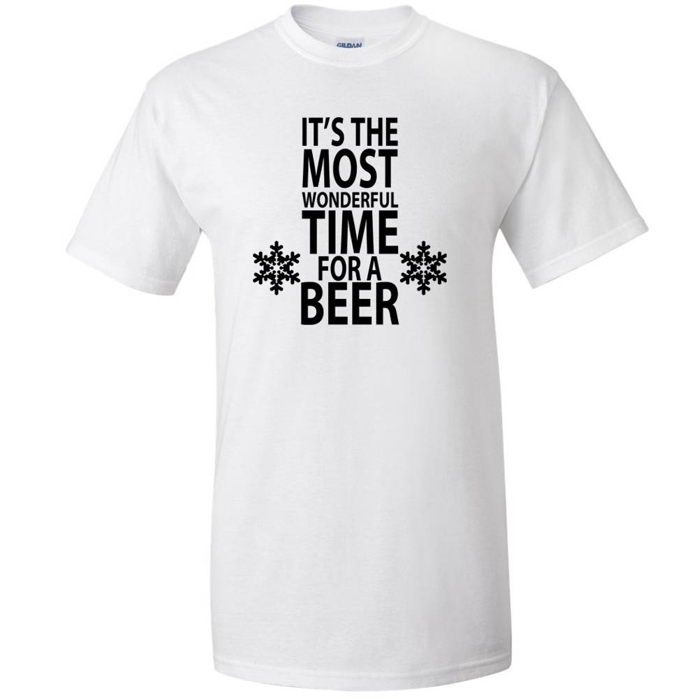 Its The Most Wonderful Time For A Beer Christmas Parody Funny Mens ...