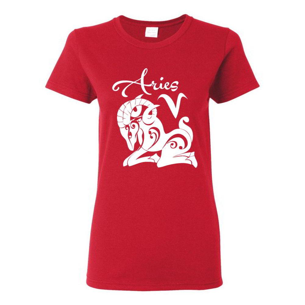 Aries Horoscope Zodiac Ladies Tees Astrology Birthday Gift Ideas Womens T-Shirts | EBay