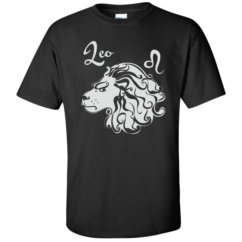 Leo Horoscope Birthday Gifts Zodiac Signs Astrology Tees Mens Graphic T Shirts
