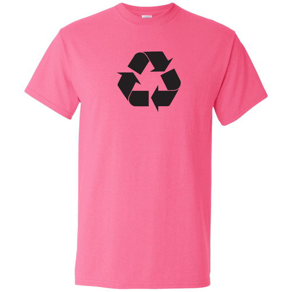 Recycle symbol go green earth day tees eco friendly youth for Environmentally friendly t shirts