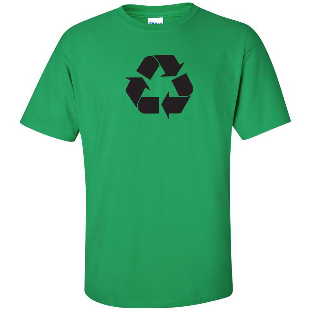 Recycle Symbol Tees Go Green Environment Earth Day Tees Mens T