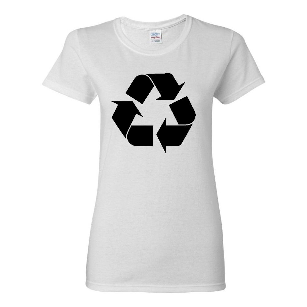 Reduce reuse recycle symbol go green earth day ladies womens epa t reduce reuse recycle symbol go green earth day buycottarizona Choice Image