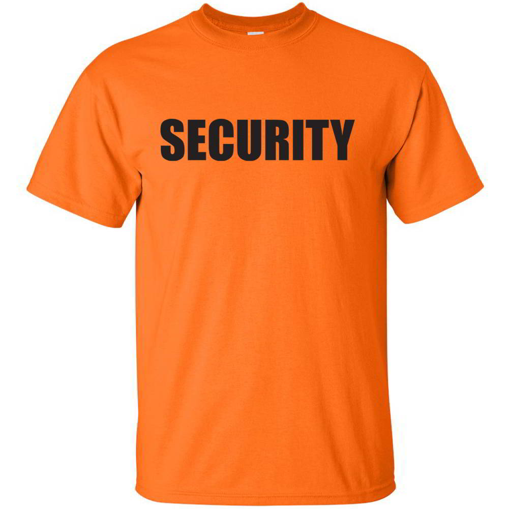 Security bouncer party concert event staff official cheap for Cheap company t shirts