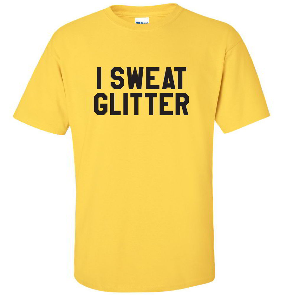 I sweat glitter workout fitness gifts funny diva gym tees for T shirts that don t show sweat