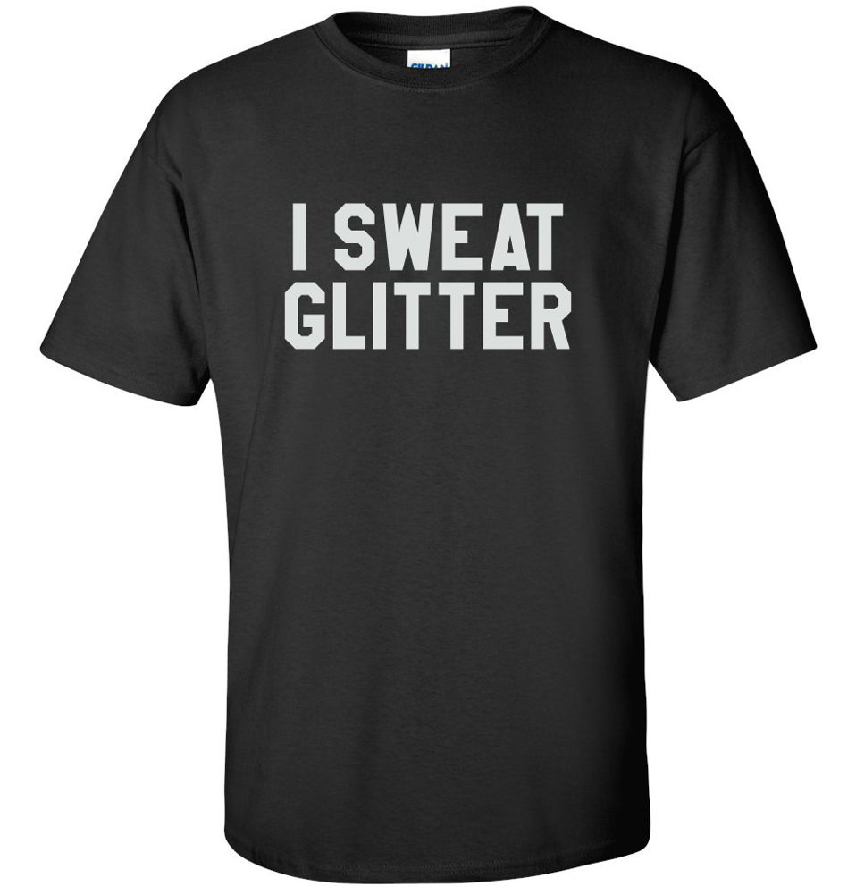 I sweat glitter workout fitness gifts funny diva gym tees for Sweat free t shirts