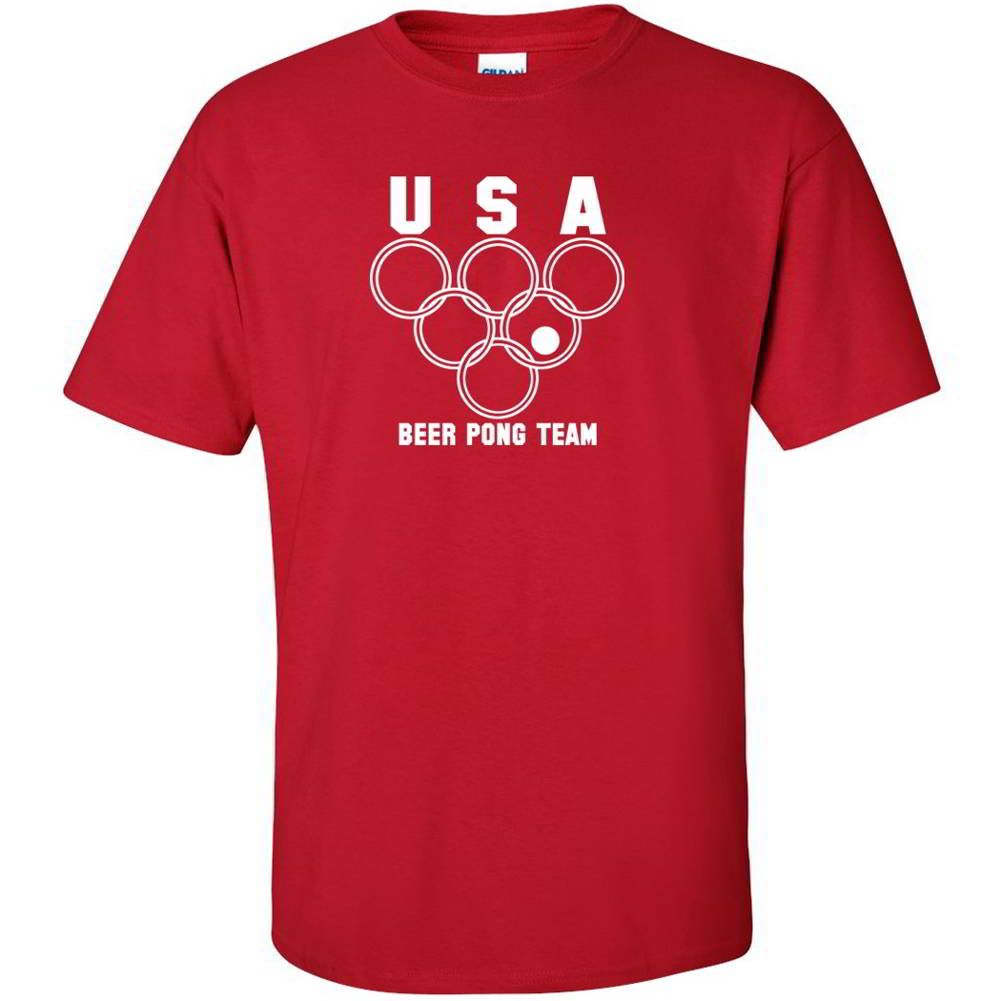 USA Beer Pong Team Drinking Game Funny Graphic T Shirts | eBay
